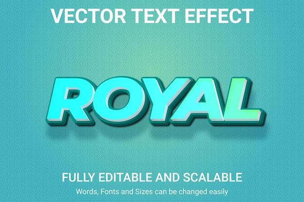 Efeito de texto editável - estilo de texto royal
