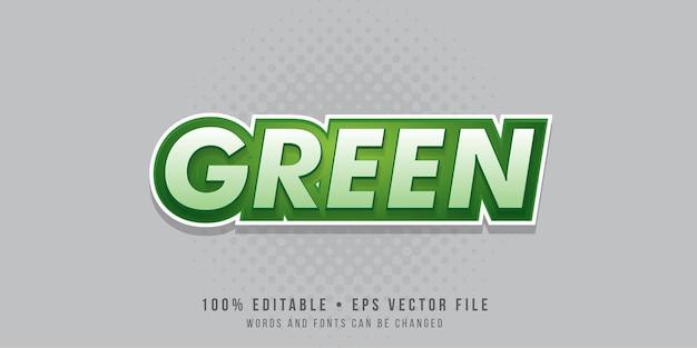 Efeito de texto editável estilo de texto verde