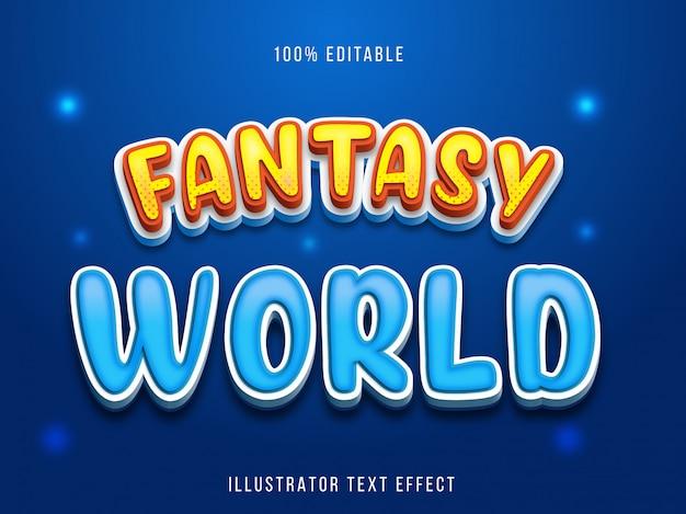 Efeito de texto editável - estilo de título blue fantasy