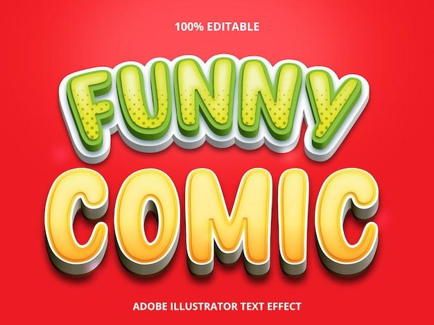 Efeito de texto editável - estilo de título em quadrinhos engraçado Vetor Premium