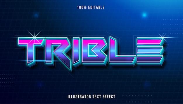 Efeito de texto editável - estilo de título trible retrô