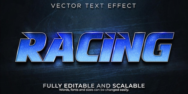 Efeito de texto editável, estilo de velocidade de corrida