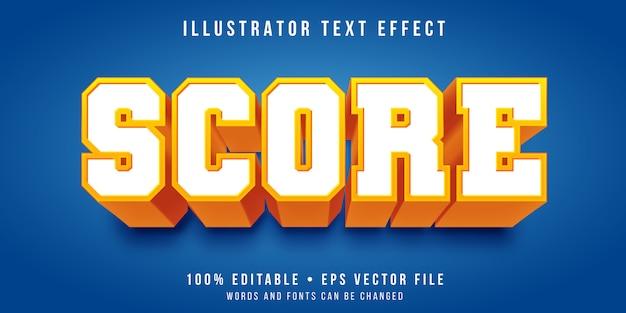 Efeito de texto editável - estilo do time do colégio