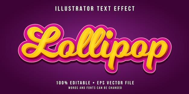Efeito de texto editável - estilo doce doce