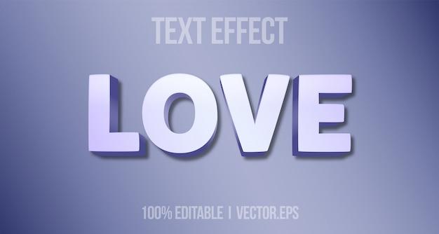 Efeito de texto editável - estilo gráfico de logotipo de amante