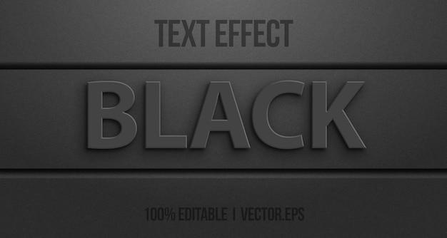 Efeito de texto editável - estilo gráfico de logotipo preto