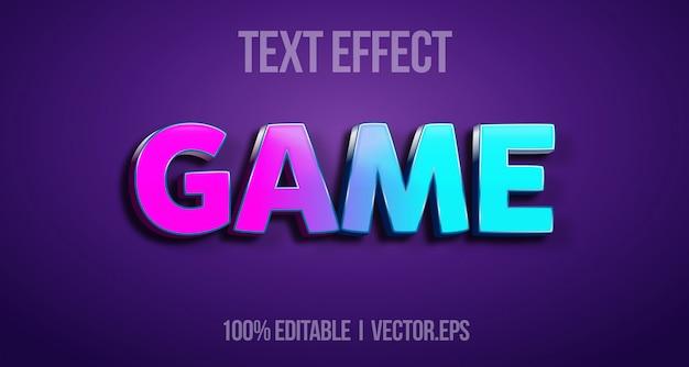 Efeito de texto editável - estilo gráfico do logotipo do jogo