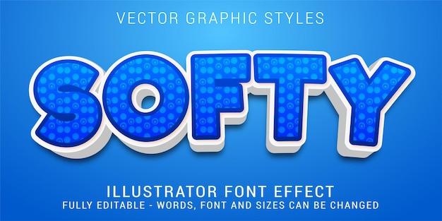 Efeito de texto editável, estilo gráfico em azul suave