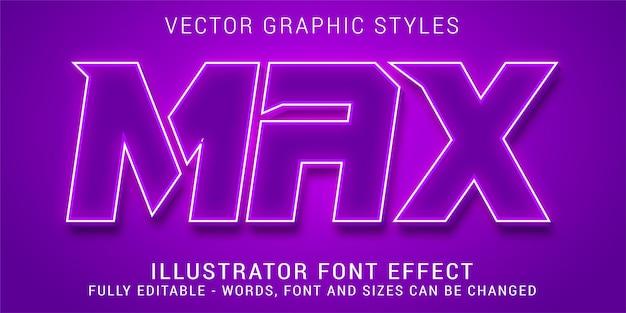 Efeito de texto editável, estilo gráfico máximo sólido