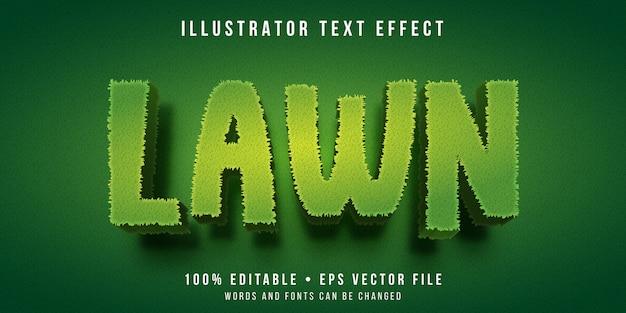 Efeito de texto editável - estilo grama