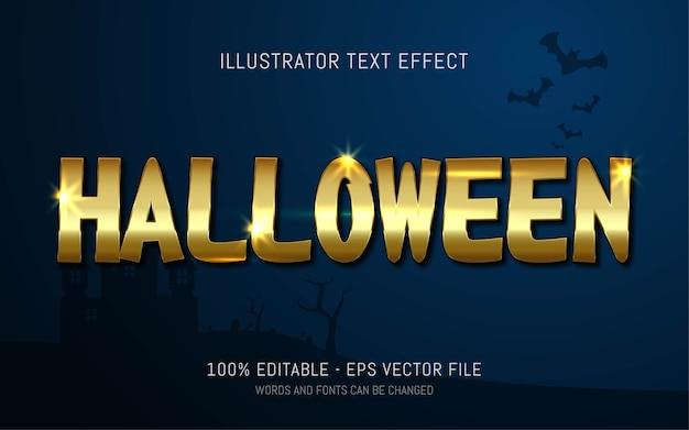 Efeito de texto editável, estilo halloween