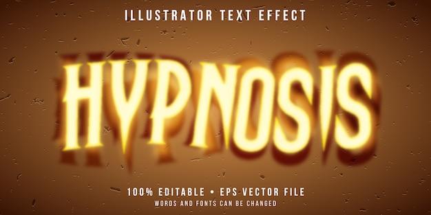 Efeito de texto editável - estilo hipnotismo
