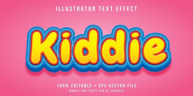 Efeito de texto editável - estilo infantil