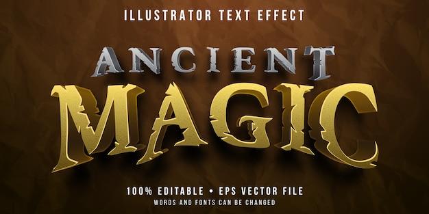 Efeito de texto editável - estilo mágico antigo