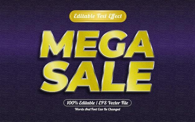 Efeito de texto editável estilo mega venda estilo prata