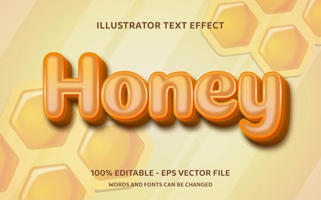 Efeito de texto editável, estilo mel