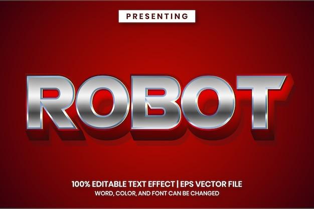 Efeito de texto editável - estilo metálico cromado prateado