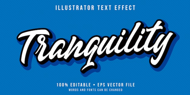 Efeito de texto editável - estilo mínimo de caligrafia