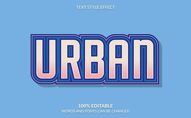 Efeito de texto editável, estilo moderno de texto urbano em negrito