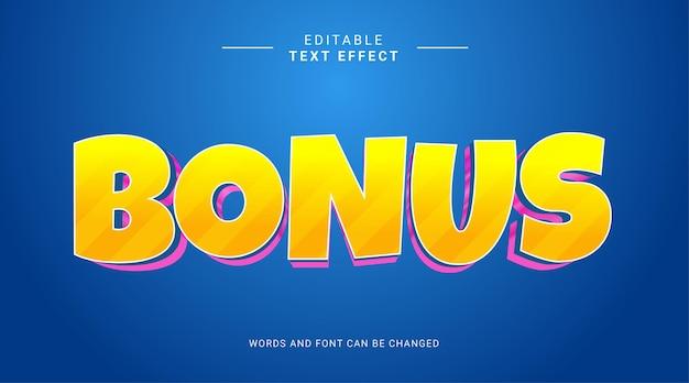 Efeito de texto editável estilo negrito moderno bonus amarelo rosa gradiente
