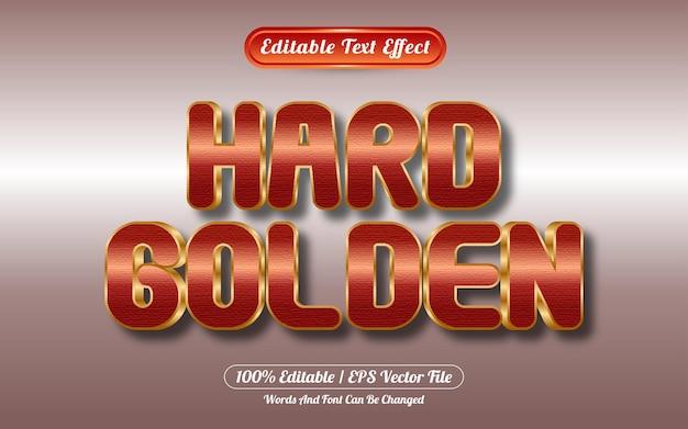 Efeito de texto editável estilo ouro duro