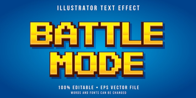 Efeito de texto editável - estilo pixel de arcade