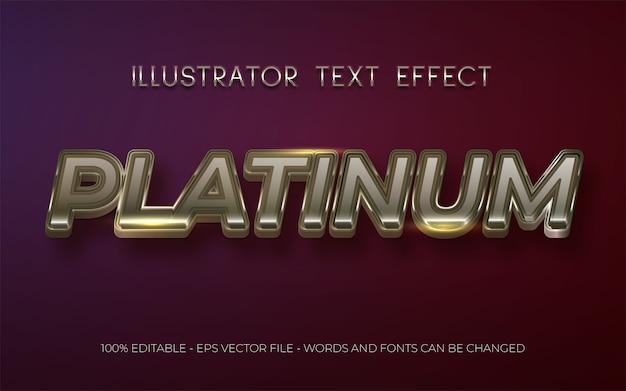 Efeito de texto editável estilo platinum