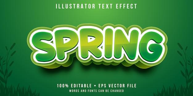 Efeito de texto editável - estilo primavera Vetor Premium