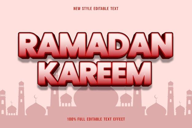 Efeito de texto editável estilo ramadan kareem rosa