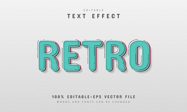 Efeito de texto editável - estilo retro