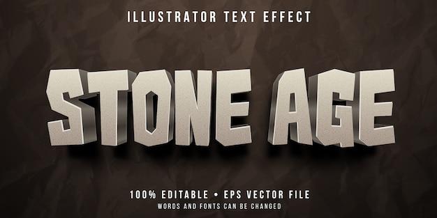 Efeito de texto editável - estilo rock da idade da pedra