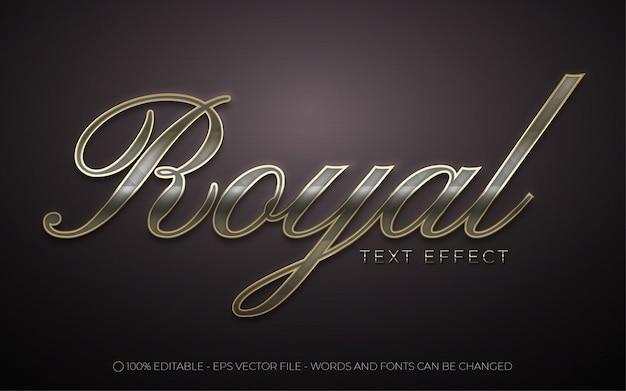 Efeito de texto editável estilo royal premium