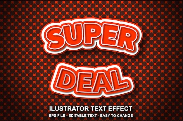Efeito de texto editável estilo super deal
