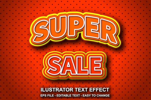 Efeito de texto editável estilo super venda