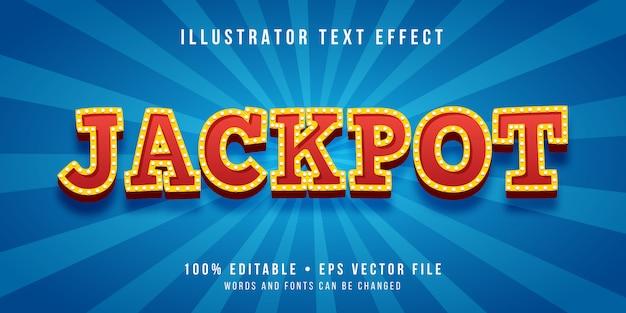 Efeito de texto editável - estilo vencedor do jackpot