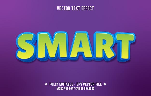 Efeito de texto editável estilo verde inteligente moderno