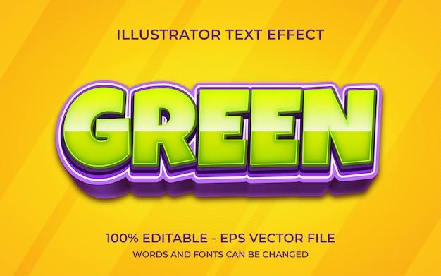 Efeito de texto editável, estilo verde