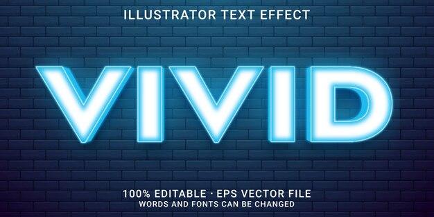 Efeito de texto editável estilo vívido