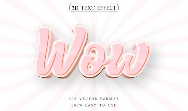 Efeito de texto editável estilo wow 3d