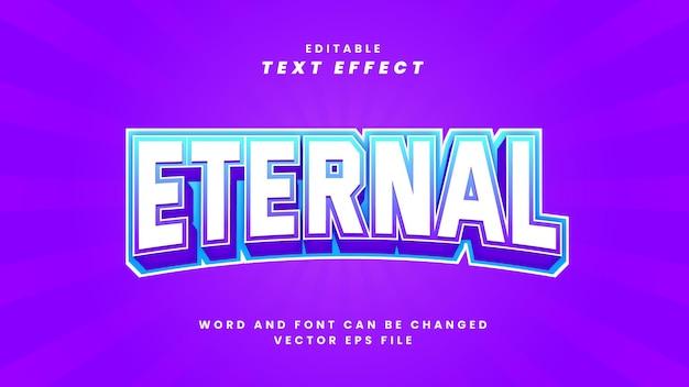 Efeito de texto editável eterno