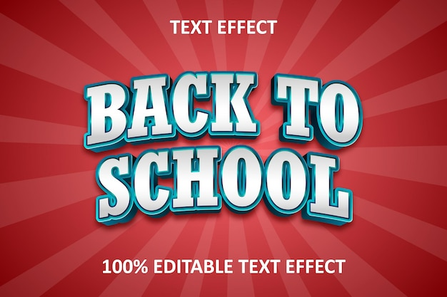 Efeito de texto editável extravagante vintage azul ciano vermelho Vetor Premium