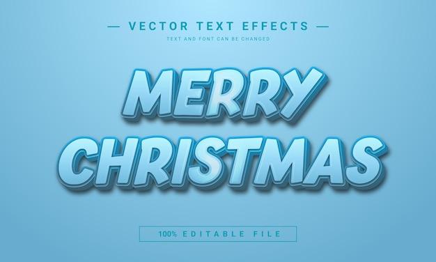 Efeito de texto editável feliz natal