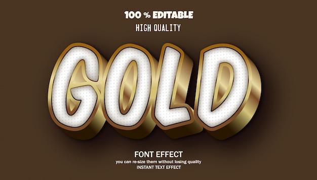 Efeito de texto editável, fonte 3d dourada de estilo moderno