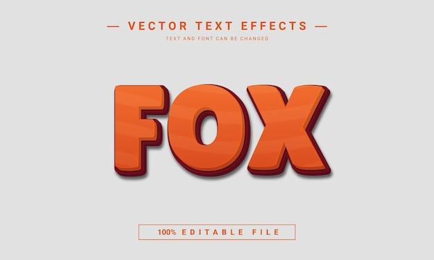 Efeito de texto editável fox