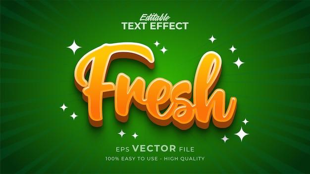 Efeito de texto editável fresco