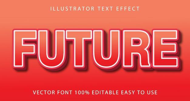 Efeito de texto editável futuro
