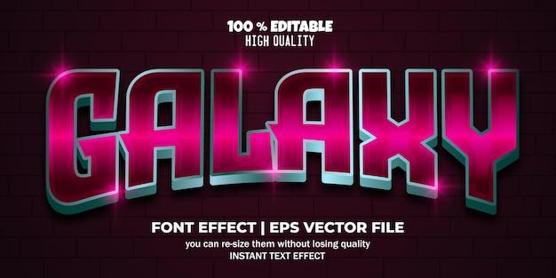 Efeito de texto editável galaxy 3d