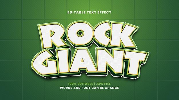 Efeito de texto editável gigante do rock em estilo 3d moderno