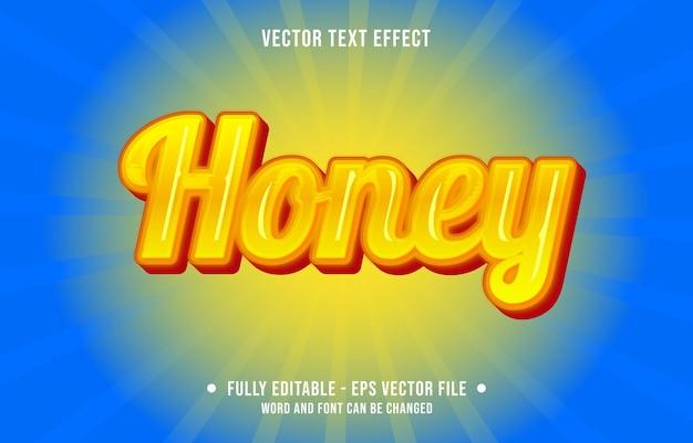 Efeito de texto editável gradiente de mel cor amarela estilo artístico