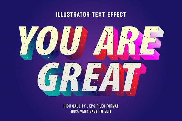 Efeito de texto editável - gradiente elegante com efeito granulado
